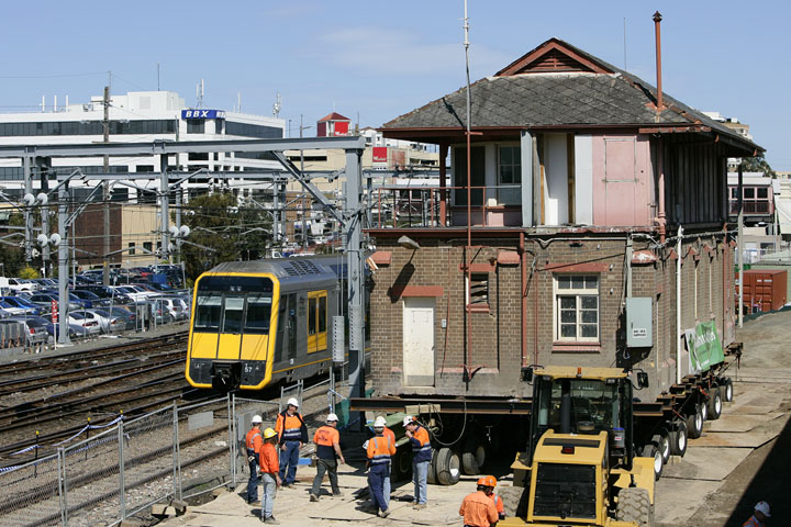 Hornsby Signal Box on the move